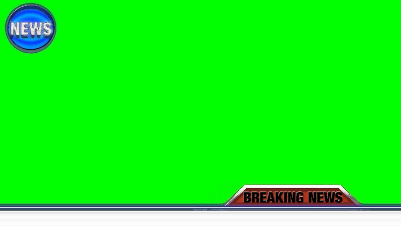 breaking news green screen - free green screen - YouTube