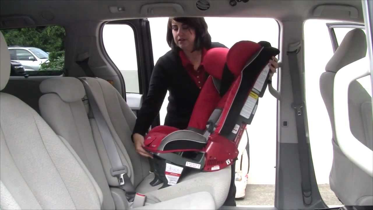 Diono Car Seat Rear Facing Installation Video