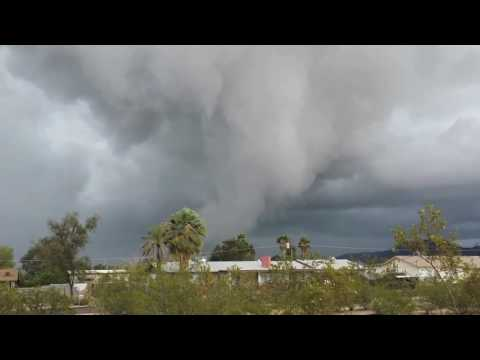 Tornado Warned Storm in Mesa, Arizona 2014