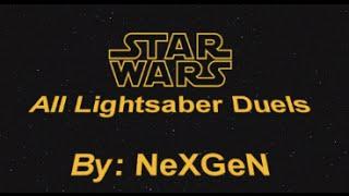 Star Wars - All Lightsaber Duels 1080p by NexGen