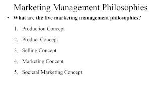 marketing concept papers
