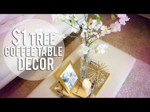 DOLLAR TREE DIY - 4 Coffee Table Decor Ideas
