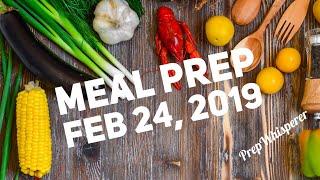 Weekly Meal Prep WW - Weight Watchers 2/24/19