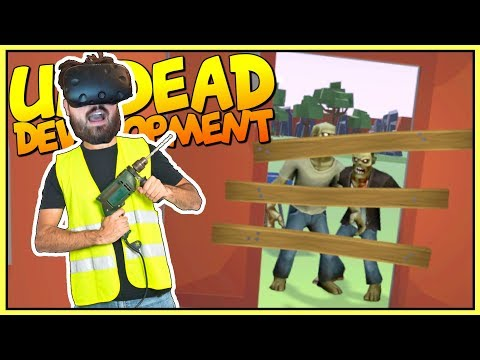 BUILDING A BASE & SURVIVING THE ZOMBIE APOCALYPSE IN VR - Undead Development Gameplay - VR HTC Vive