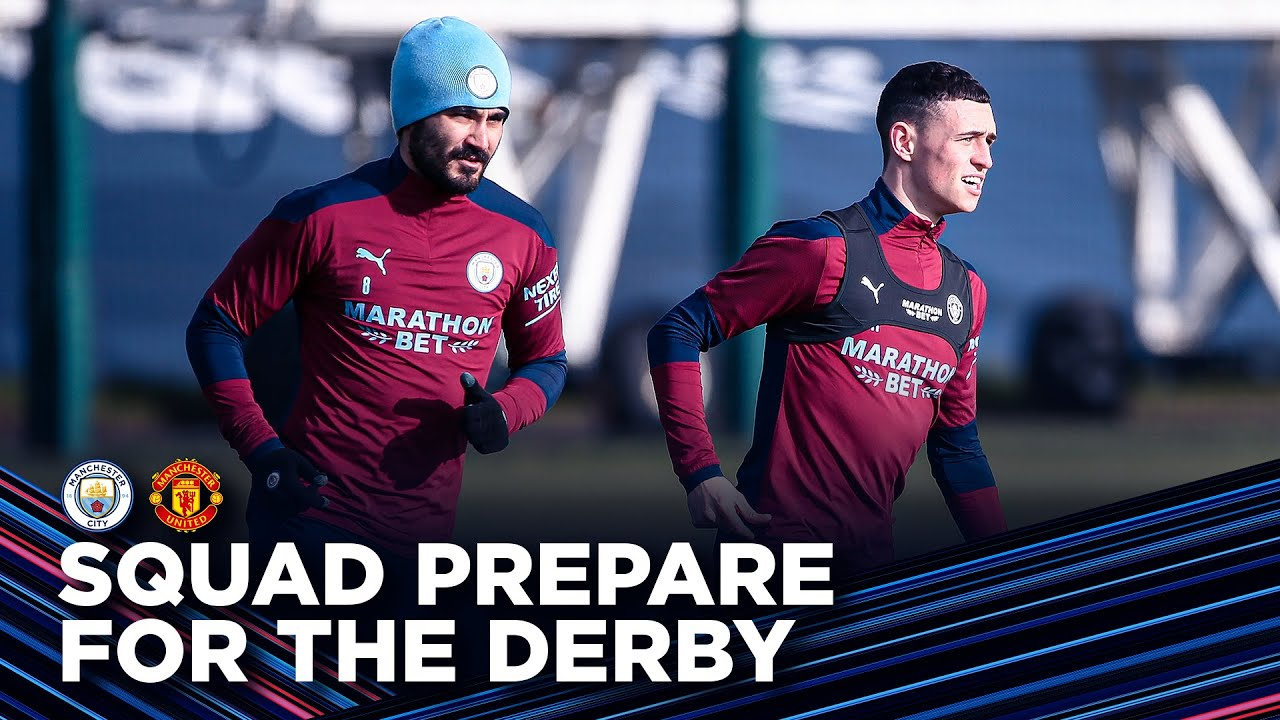 SQUAD PREPARE FOR MANCHESTER DERBY! | Training Session