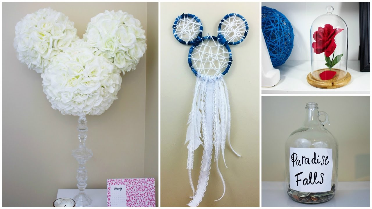 crafts diy disney easy cheap inspired decoration wall