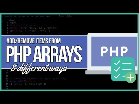 PHP Add To and Remove Elements From an Array