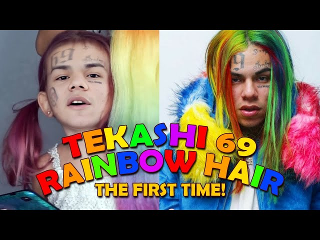 The First Time Tekashi 69 Did Rainbow Hair With His Mom