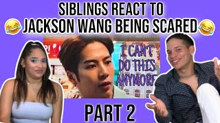 Siblings react to GOT7's Jackson Wang being scared for 5 minutes PART 2😂😂😂 | REACTION
