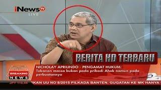 Inilah Tamparan Pedas Nicholay Aprilindo Kepada Ahok Disidang Ke 15 - 21 Maret 2017