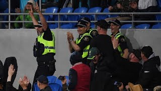 Policeman pulls off classic crowd catch