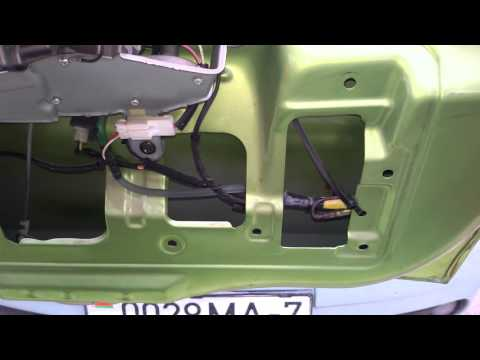 Течь заднего стеклоочистителя разбрызгивателя Daewoo Matiz где течёт 1часть