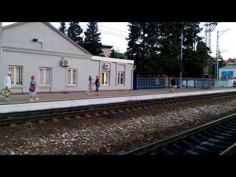 На поезде вдоль побережья черного моря к Сочи. Часть1