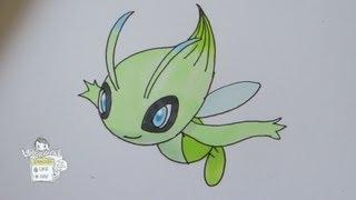 How to draw Pokemon: No.251 Celebi セレビィ