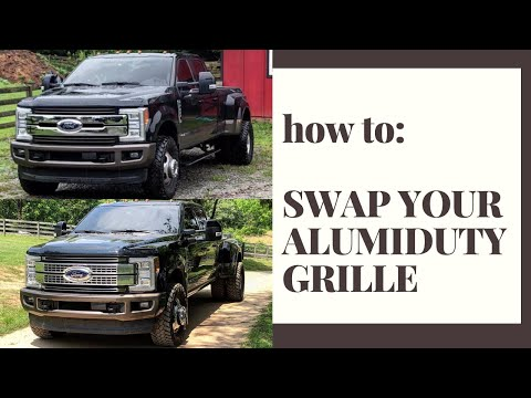 2017+ Ford Super Duty Grille Swap Installation
