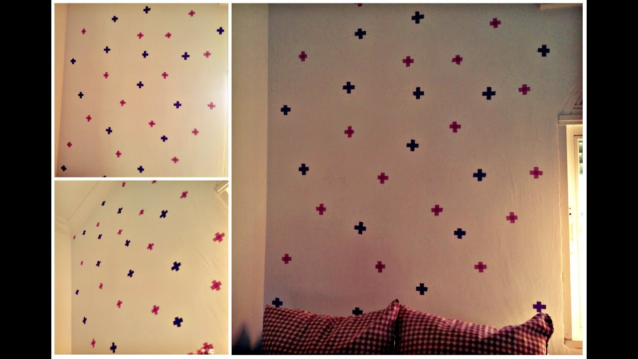 Diy como decorar una pared f cil youtube - Como empapelar una pared ...