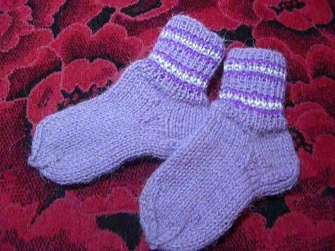 Носки спицами от А до Я спицами  бесшовные, самые простые, бабушкины.Knitted socks on 5 needles