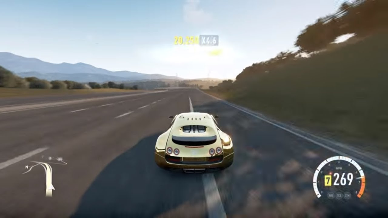 forza horizon 2 - 2011 bugatti veyron super sport - top speed run