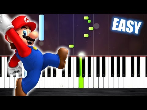 Super Mario Theme Easy Piano Tutorial