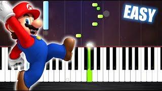 Gambar cover Super Mario Theme - EASY Piano Tutorial by PlutaX