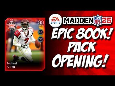 Madden 25 Ultimate Team - MEGA 800,000 Legendary Pack Opening! + New 99 Mike Vick - Pt.1 - MUT 25