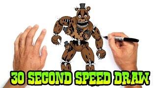 Nightmare Freddy (FNAF 4)- Speed Draw Preview