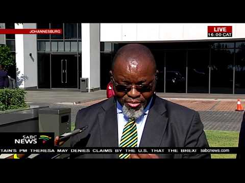 Gwede Mantashe briefs the media following State Capture testimony