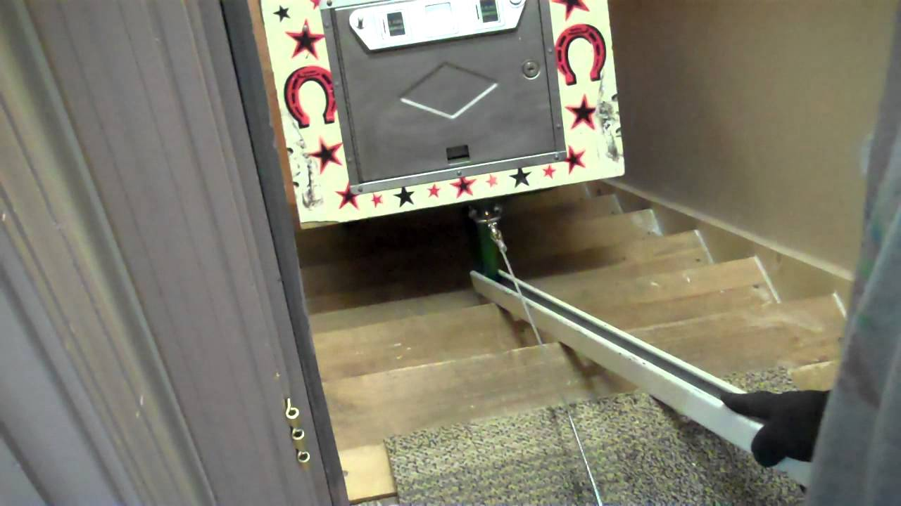 Moving A Pinball Machine Up The Stairs Youtube