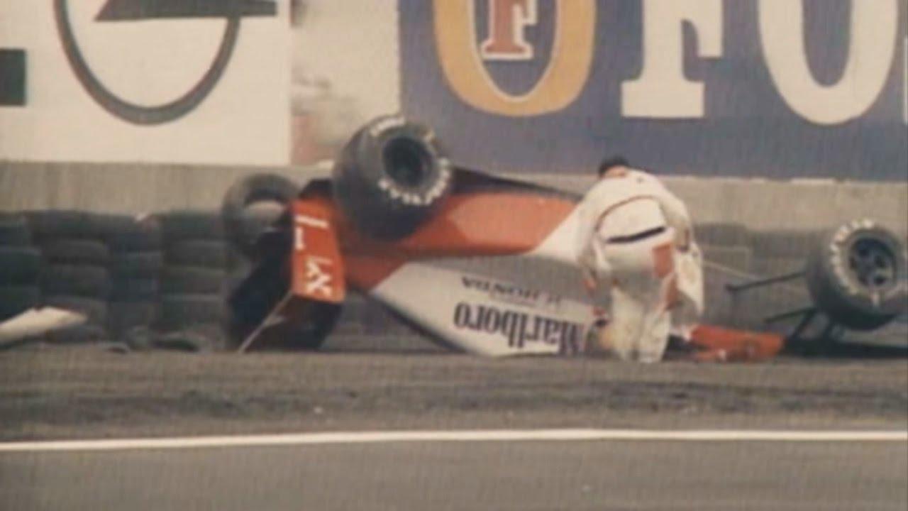 Free Car History Report >> Ayrton Senna crash @ Mexico 1991 - YouTube