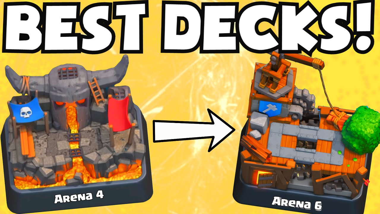 Clash royale best decks for arena 4 5 6 which cards to for Clash royale deck molosse