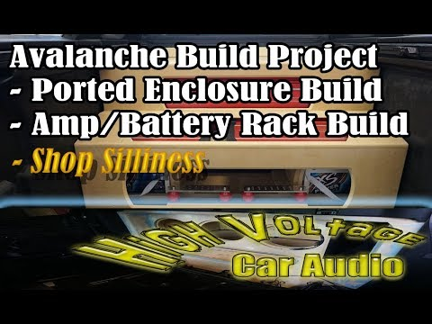 Avalanche Project - Sub Enclosure and Amp Rack