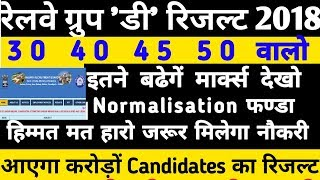 Railway Group D Result 2018 || RRB Gr D Cut off|What is Normalisation Mark| group d cutoff marking