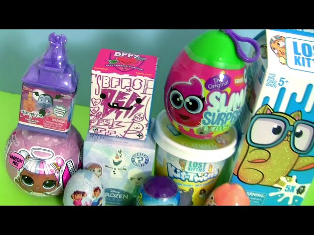 Lost Kitties Huge Surprise Toys Slime Jelly egg lol Playdoh Surpresa