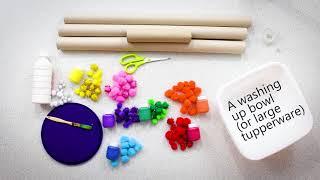 Make Your Own: Kaleidoscope Pom Pom Drop!