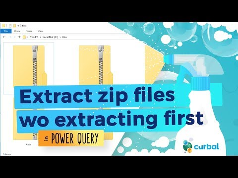 Get data from zip files without extracting them in Power