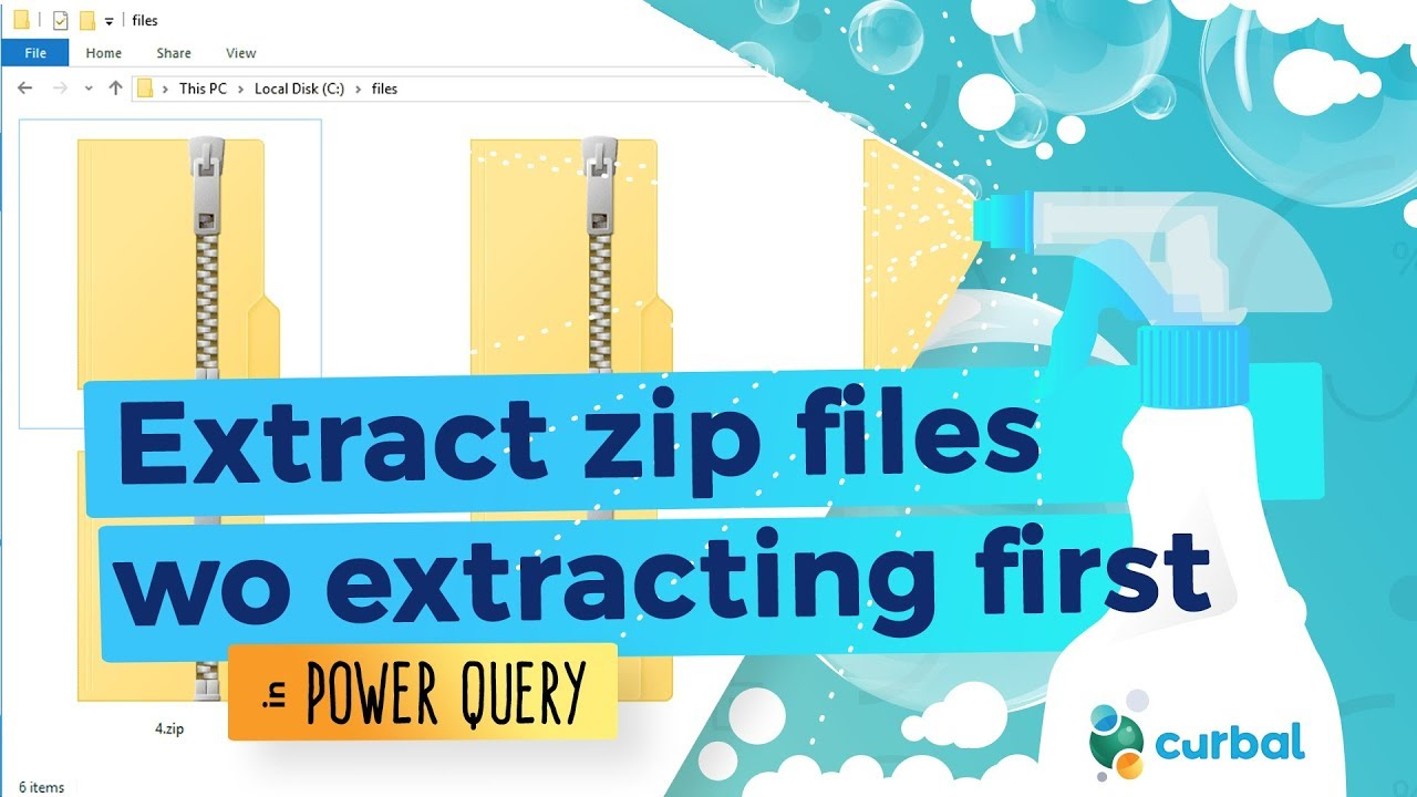 Get data from zip files without extracting them in Power Query