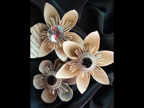 Paper flowers. Simple Kusudama Flowers - Easy tutorial