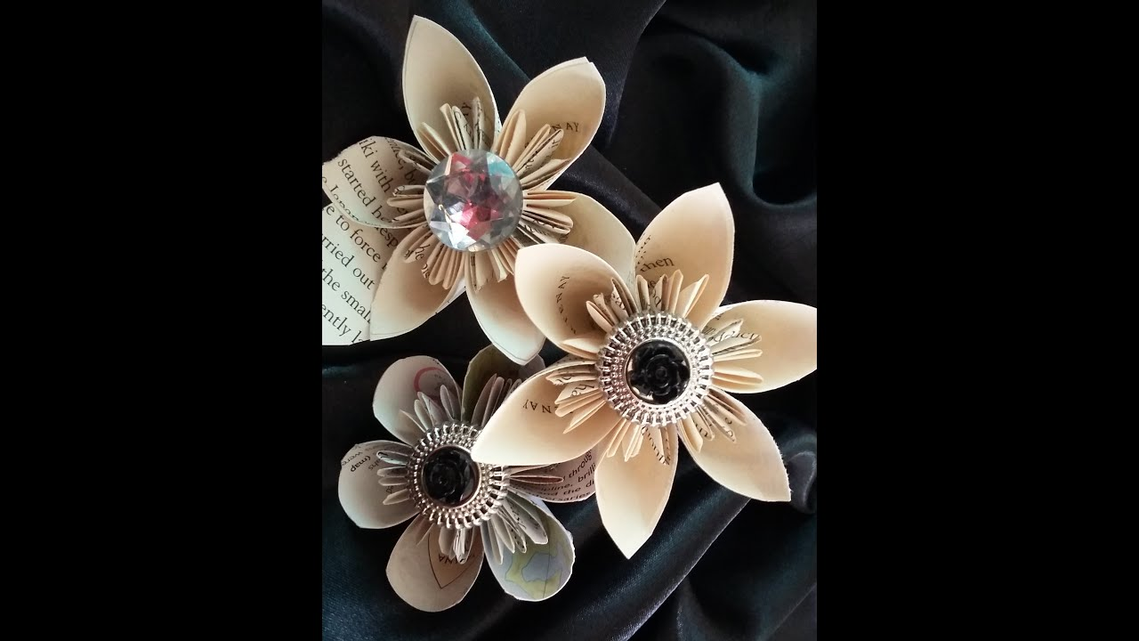 Paper Flowers Simple Kusudama Flowers Easy Tutorial Youtube