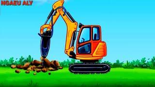 Trucks for children Excavator for kids car for kids/part2