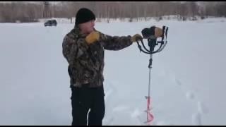 Зимова риболовля. Супер бур)))
