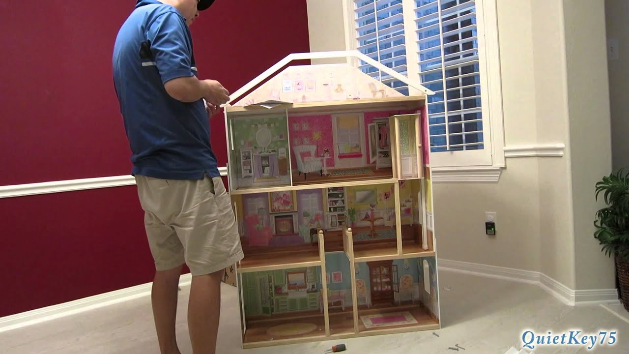 Kidkraft Majestic Mansion Dollhouse With Furniture Unboxing And