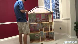 Kidkraft Majestic Mansion Dollhouse With Furniture - Unboxing And Construction