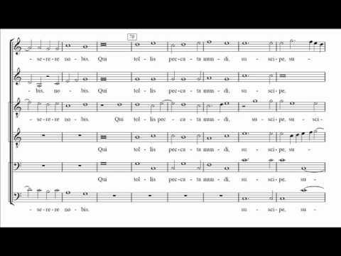 Palestrina - Missa Papae Marcelli - II. Gloria (score)