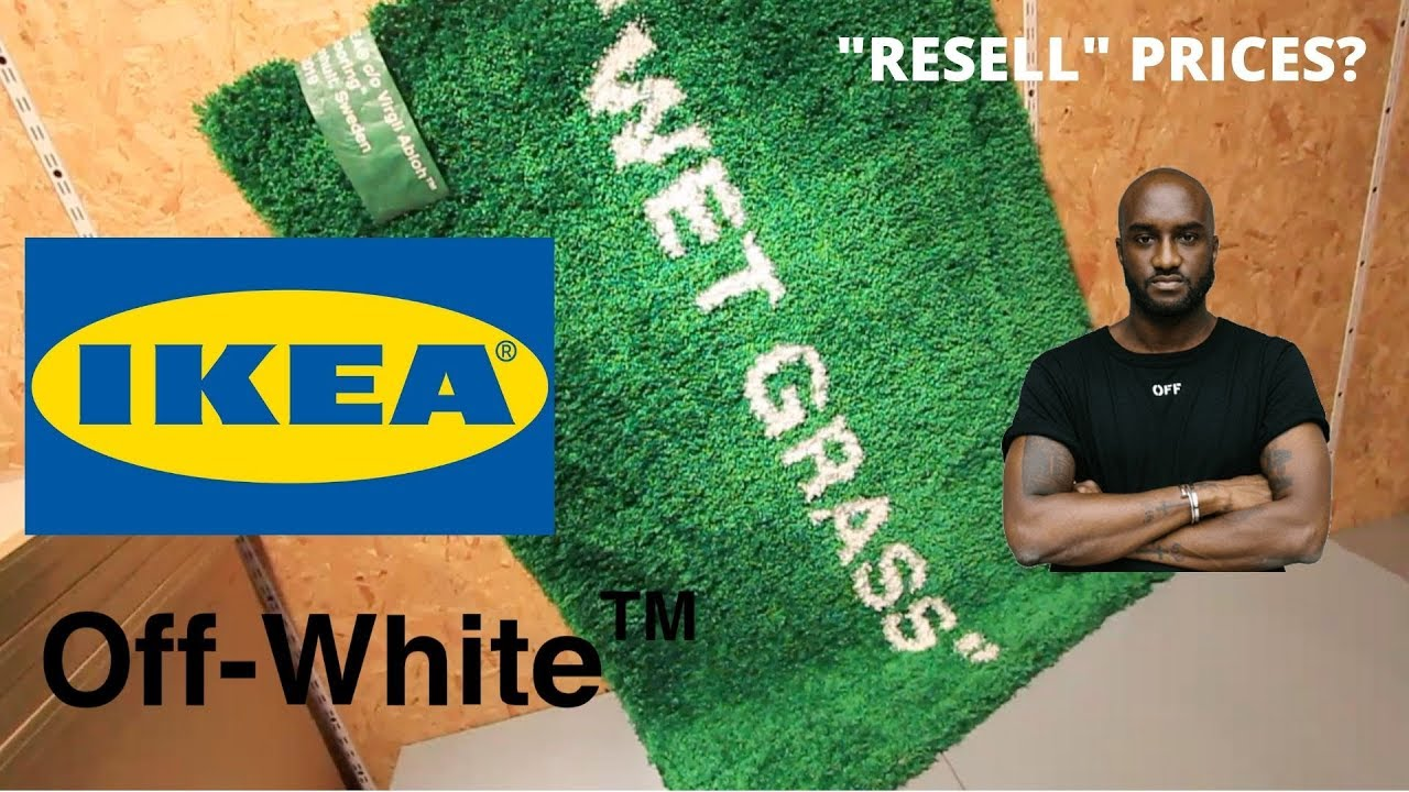 Ikea X Virgil Abloh Markerad Collection Wet Grass Rug Temporary Clock