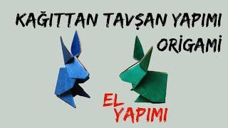Kağıttan Tavşan Yapmak (Origami)
