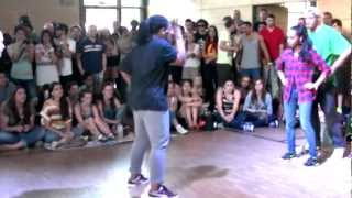 Six 1 Cypher 2 vs 2 Crew battle Jemal & Johanna vs. Dope Roc Kids