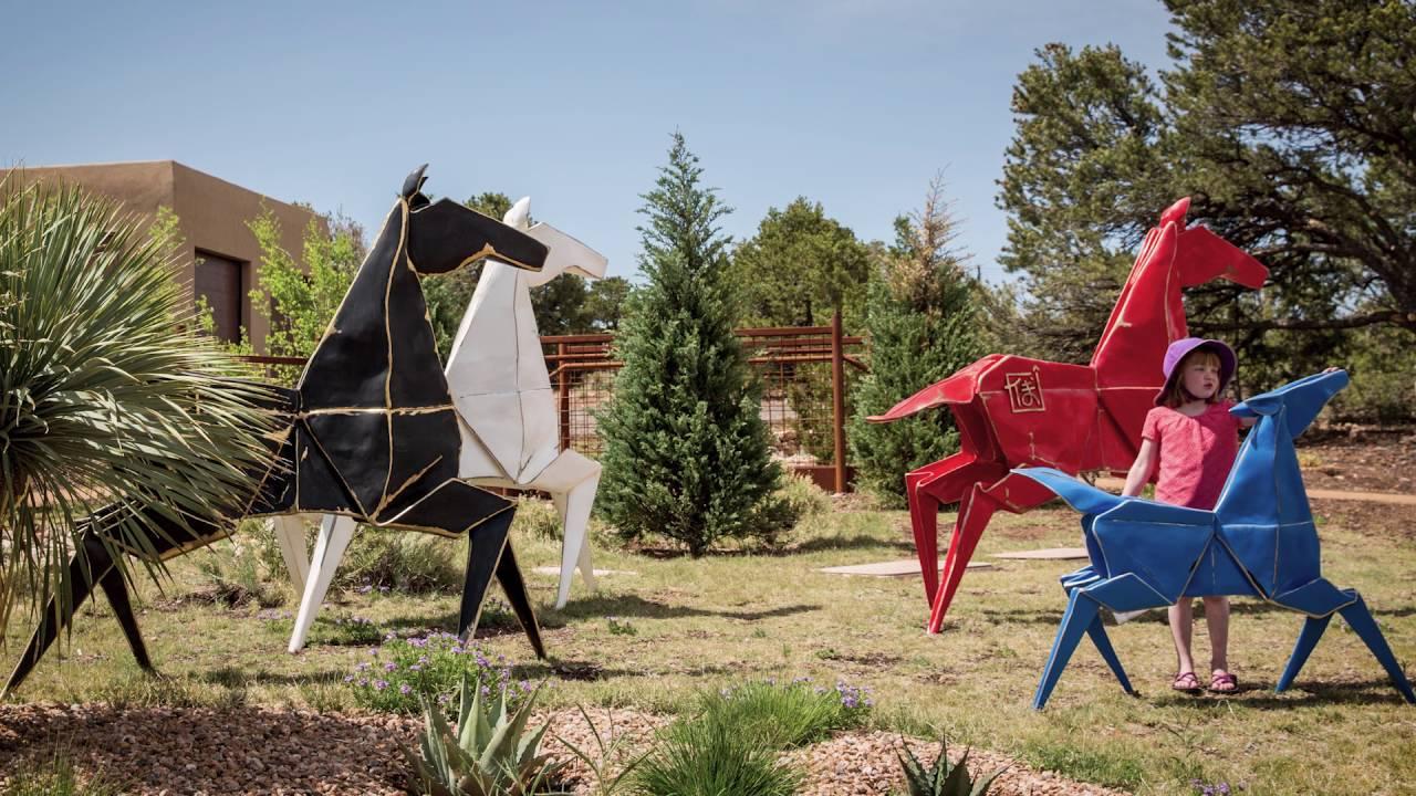 Origami in the Garden - YouTube