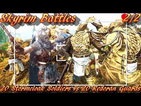 Skyrim Battles - 2/2 - 20 Stormcloak Soldiers vs 20 Redoran Guards [Legendary Settings]