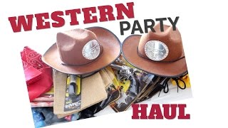 COWBOY/WESTERN THEME PARTY HAUL | TwinMomPlus1