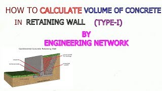 how to calculate the concrete volume of retaining wall